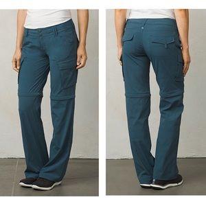 PRANA Sage Convertible Pants in Mood Indigo Size 6